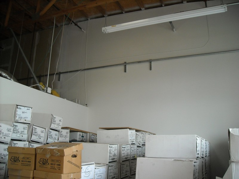 Run conduit for server room through wearhouse in sub panel in server room lake forest